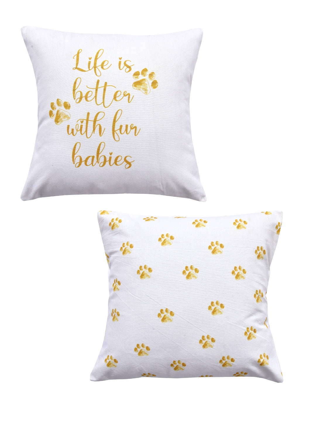Dog Print Set of 2 Cushion Cover