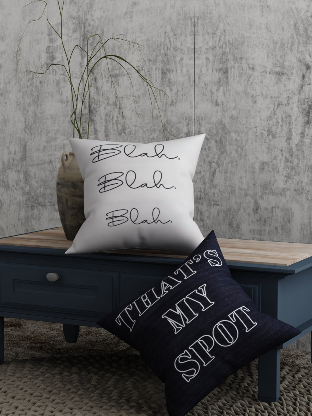 Quote Print Set of 2 Cushion Cover