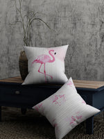 Load image into Gallery viewer, Flamingo Print Set of 2 Cushion Cover