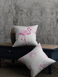Flamingo Print Set of 2 Cushion Cover