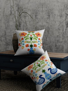 Peacock Print Set of 2 Cushion Cover