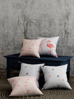 Load image into Gallery viewer, Flamingo Print Set of 5 Cushion Cover