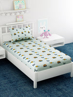 Load image into Gallery viewer, Kids Anchor Printed 100% Cotton Single Bedsheet Set