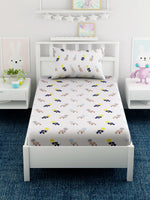 Load image into Gallery viewer, Kids Cartoon Printed 100% Cotton Single Bedsheet Set