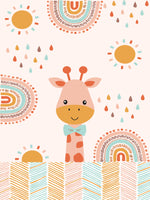 Load image into Gallery viewer, Kids Giraffe Printed 100% Cotton Single Bedsheet Set