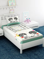 Load image into Gallery viewer, Kids Printed 100% Cotton Single Bedsheet Set