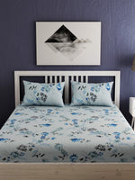 Load image into Gallery viewer, Floral Printed 100% Cotton Bedsheet Set