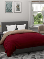 Load image into Gallery viewer, Maroon & Beige Microfiber Double comforter for Mild Winter