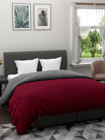 Load image into Gallery viewer, Maroon & Grey Microfiber Double comforter for Mild Winter