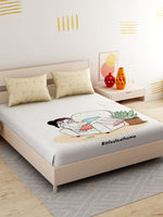 Load image into Gallery viewer, IFAH Doodle Print 100% cotton Bedsheet