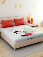Load image into Gallery viewer, It Feels At Home King Size Double Bedsheet with 2 Pillow Cover