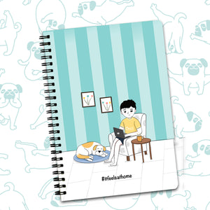 It Feels at Home Doodle Printed Diary Ruled - Spiral | A5 Size | Size: 8.5 X 6 inches | 100 Pages