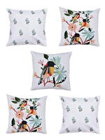 Load image into Gallery viewer, Bird Print Set of 5 Cushion Cover