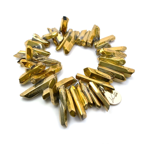 The handcrafted Gold Digger Bracelet designed by the jewelry artisans at LaCkore Couture.