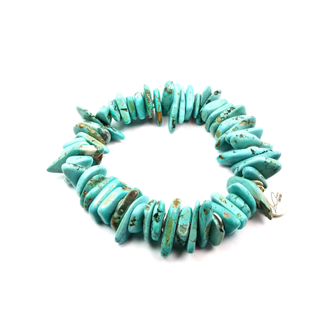 The turquoise Beach Please Bracelet designed and handcrafted by the jewelry artisans at LaCkore Couture.