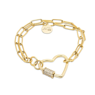 Crystal Love Lock Charm Bracelet LaCkore Couture