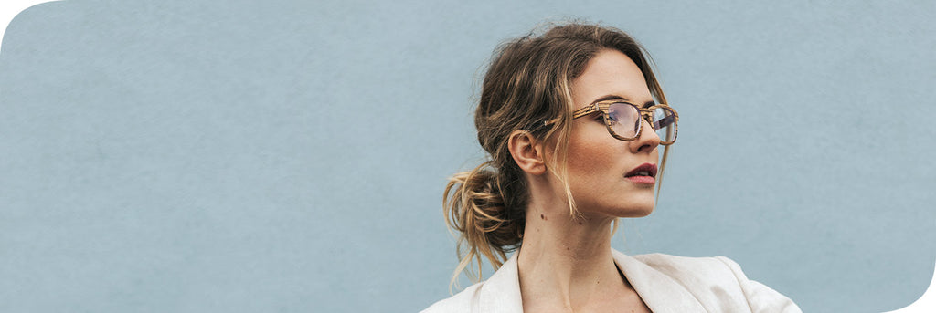 womens sustainable glasses made from eco-friendly materials