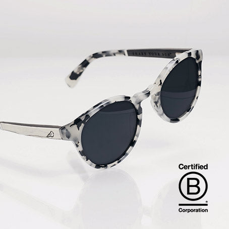 KAKA-white tortoiseshell cat eye sunglasses on a white background made with mazzucchelli bio-acetate by Bird-Sunglasses