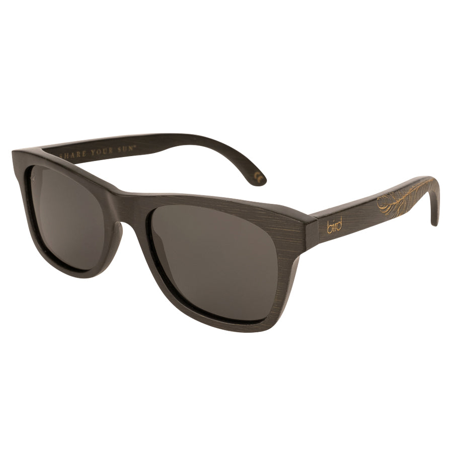JAY-Feather-Black-Bird-Sunglasses-Front-side