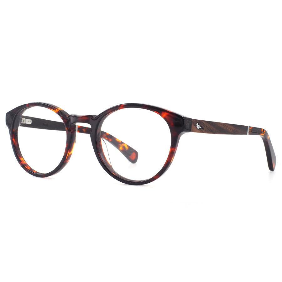KAKA-Bird-prescription-glasses-tortoiseshell-Front-side