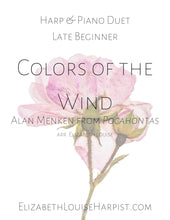 Load image into Gallery viewer, Colors of the Wind (Harp & Piano Duet) Late Beginner