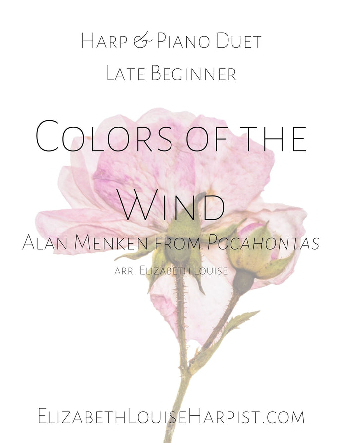 Colors of the Wind (Harp & Piano Duet) Late Beginner
