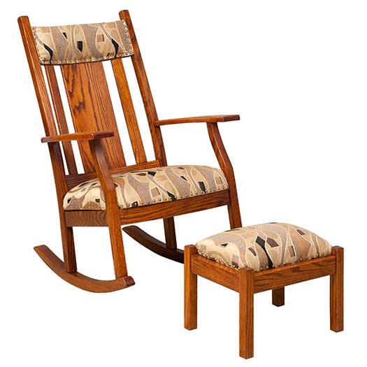 Amish USA Made Handcrafted Oakland Supreme Panel Rocker sold by Online Amish Furniture LLC