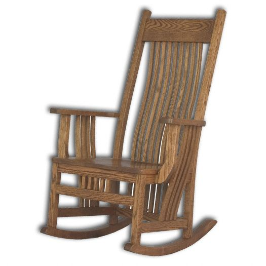 Amish USA Made Handcrafted Jumbo Royal Mission Rocker sold by Online Amish Furniture LLC