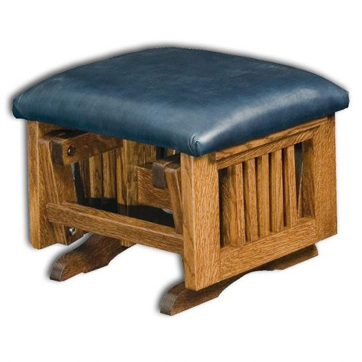 Amish USA Made Handcrafted Royal Mission Ottoman sold by Online Amish Furniture LLC