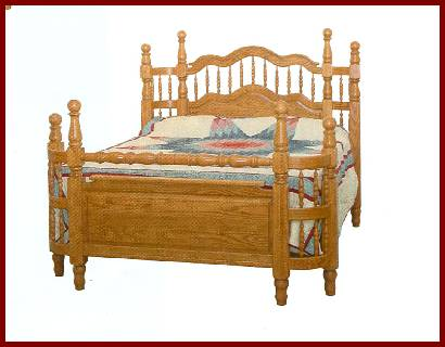 Amish USA Made Handcrafted Wrap Around Bed (High) sold by Online Amish Furniture LLC