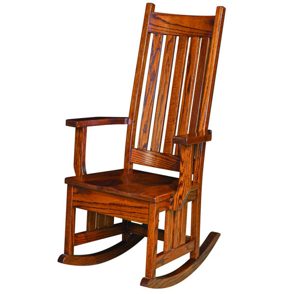 Amish USA Made Handcrafted Harrisburg Mission Rocker sold by Online Amish Furniture LLC
