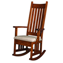 Load image into Gallery viewer, Amish USA Made Handcrafted Harrisburg Mission Rocker sold by Online Amish Furniture LLC