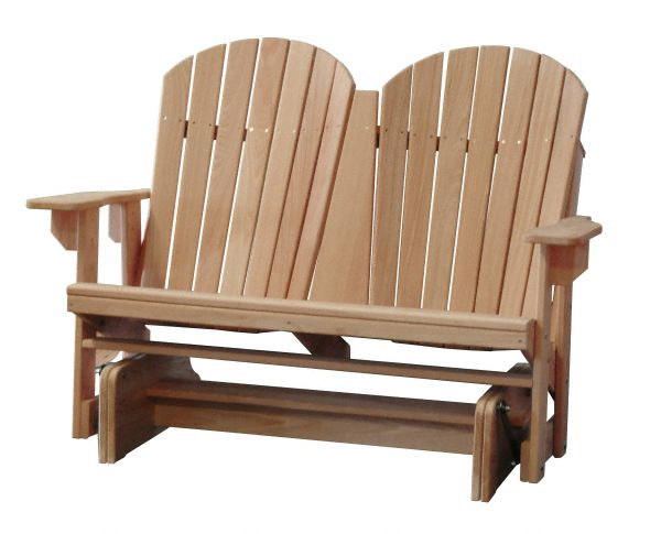Amish USA Made Handcrafted Cypress Adirondack Glider sold by Online Amish Furniture LLC