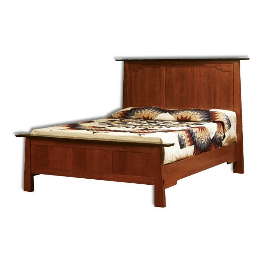 Amish USA Made Handcrafted Wind River Bed sold by Online Amish Furniture LLC