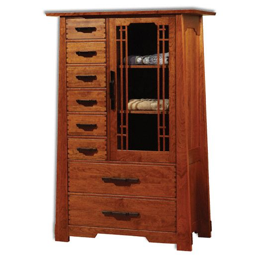 Amish USA Made Handcrafted Wind River Highboy sold by Online Amish Furniture LLC