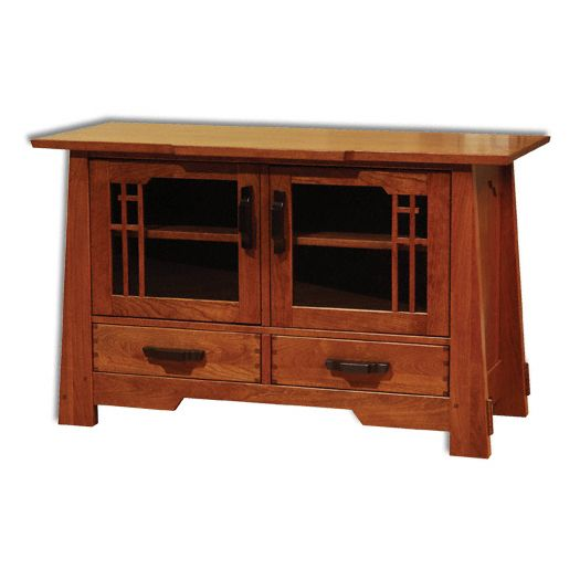 Amish USA Made Handcrafted Wind River Plasma Stand sold by Online Amish Furniture LLC