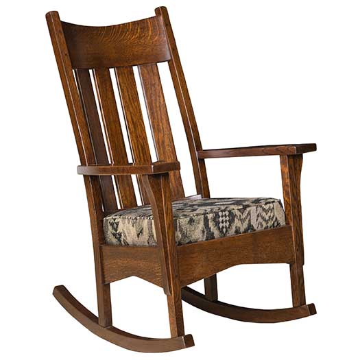 Amish USA Made Handcrafted Artisan Mission Rocker sold by Online Amish Furniture LLC