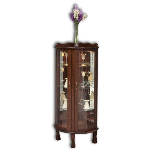 Amish USA Made Handcrafted Corner Curio sold by Online Amish Furniture LLC