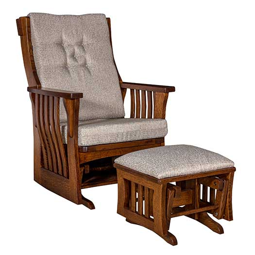 Amish USA Made Handcrafted Sebana Slat Glider sold by Online Amish Furniture LLC