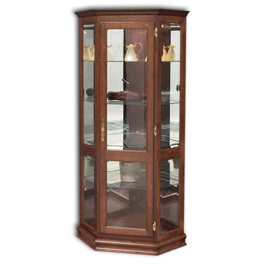 Amish USA Made Handcrafted Corner Deluxe Curio sold by Online Amish Furniture LLC