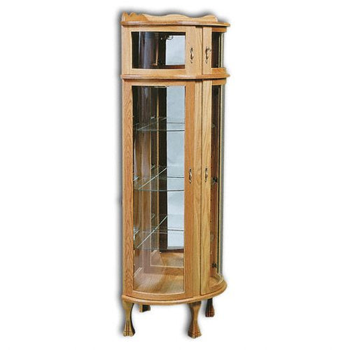 Amish USA Made Handcrafted Corner Bonnet Top Curio sold by Online Amish Furniture LLC