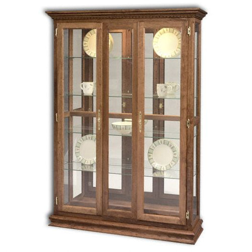 Amish USA Made Handcrafted Double Door Picture Frame Deluxe Curio sold by Online Amish Furniture LLC
