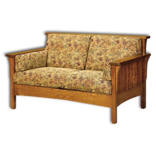 Amish USA Made Handcrafted High Back Slat Loveseat sold by Online Amish Furniture LLC