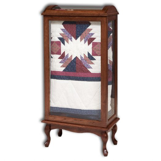 Amish USA Made Handcrafted Large Quilt Curio sold by Online Amish Furniture LLC