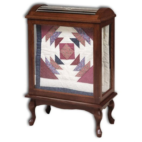 Amish USA Made Handcrafted Medium Quilt Curio sold by Online Amish Furniture LLC