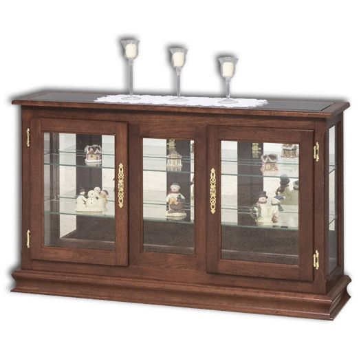 Amish USA Made Handcrafted Large Console Curio sold by Online Amish Furniture LLC