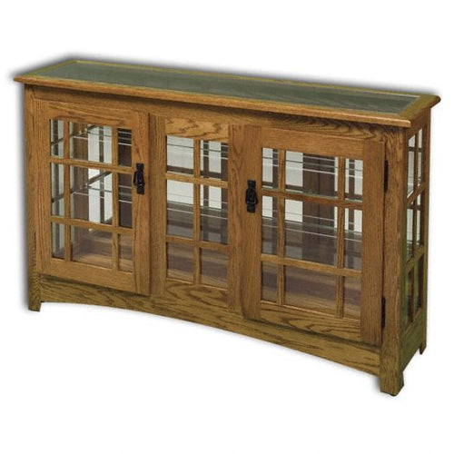 Amish USA Made Handcrafted Mission Large Console sold by Online Amish Furniture LLC