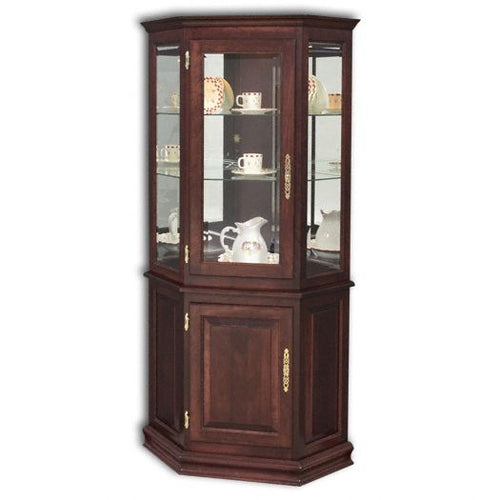 Amish USA Made Handcrafted Corner Deluxe w- Enclosed Base sold by Online Amish Furniture LLC