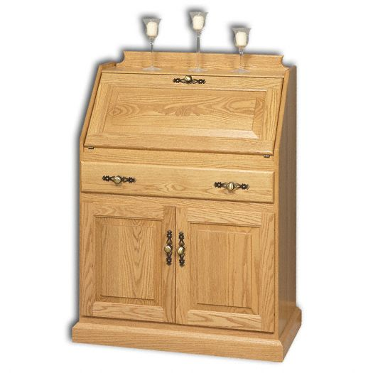 Amish USA Made Handcrafted Secretary Desk With Doors sold by Online Amish Furniture LLC