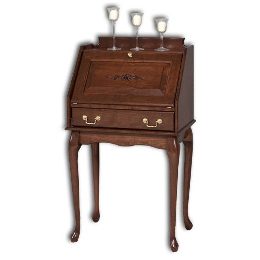 Amish USA Made Handcrafted Secretary Desk With Queen Ann Legs sold by Online Amish Furniture LLC